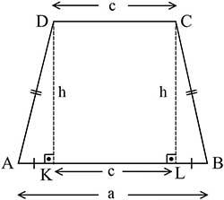 İkizkenar yamuk formülleri